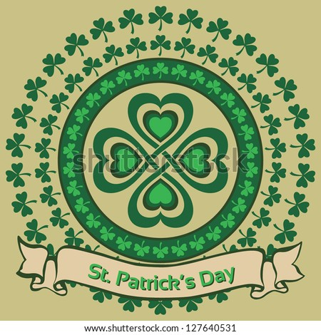 St. Patrick's Day. Lucky symbol. Vector illustration EPS10 - stock vector