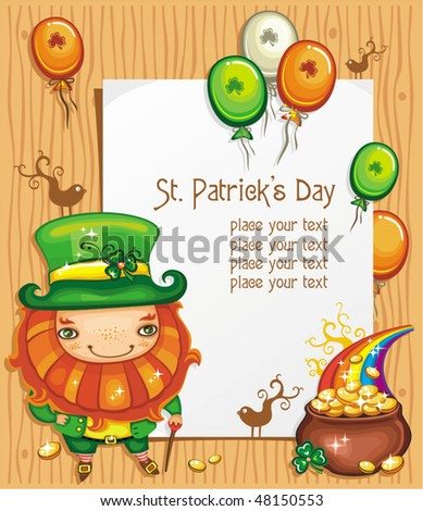 St. Patrick's Day paper framework - stock vector
