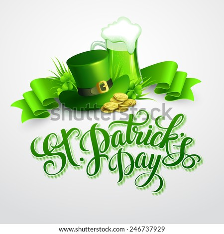 St. Patrick's Day poster. Vector illustration - stock vector
