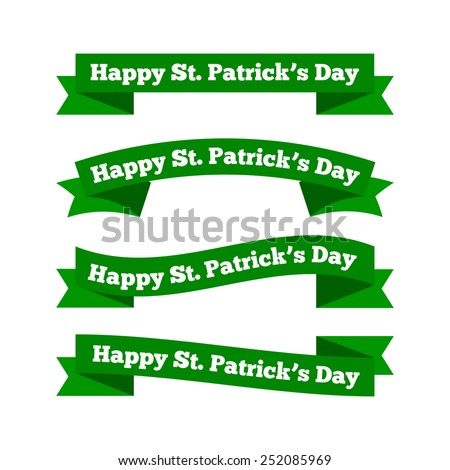 St patrick's day ribbons - stock vector