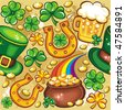 St. Patrick's day seamless background series - stock vector
