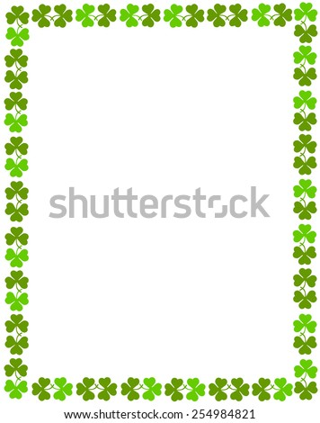 St. Patrick's day seamless pattern with green clovers - stock vector