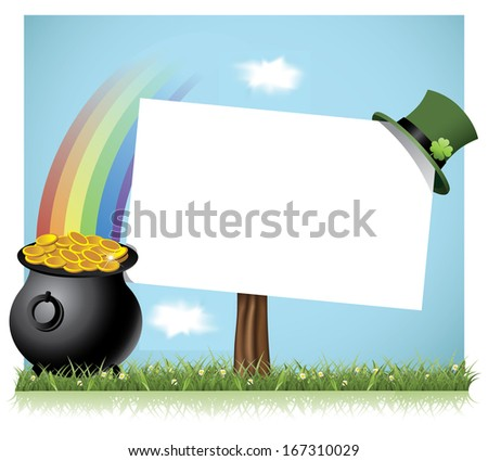 St. Patrick�s Day sign background. EPS 10 vector, grouped for easy editing. No open shapes or paths. - stock vector