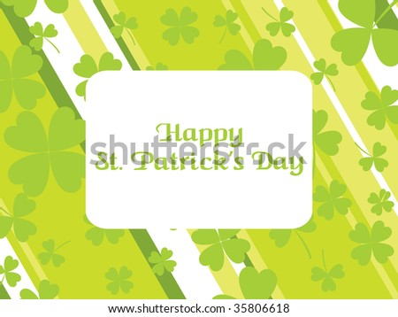 st. patrick's day strips background with clover
