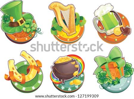 St.Patrick's Day symbols - stock vector