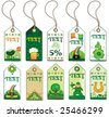 St. Patrick's Day tags. To see similar, please VISIT MY GALLERY. - stock vector