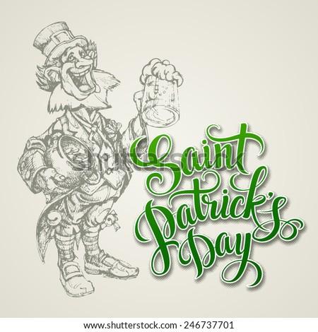 St. Patrick's Day vector illustration - stock vector