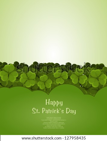 St Patricks day background - stock vector