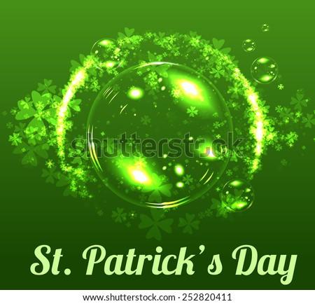 St Patricks day background - stock vector