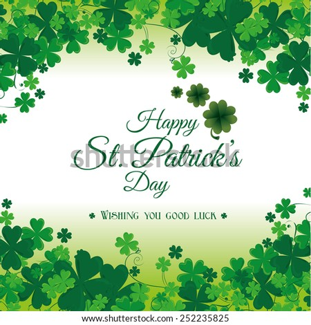 St patricks day card design, vector illustration. - stock vector