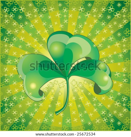 St. Patricks day decorated with shamrock.Vector  illustration - stock vector