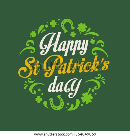 St. Patricks Day poster - stock vector