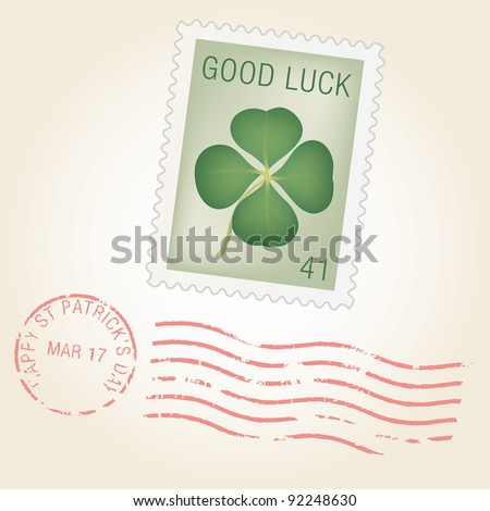 St Patty Stamp - stock vector