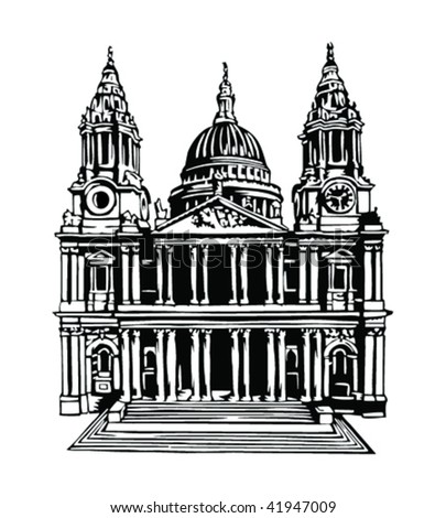 St. Paul's Cathedral, London - stock vector