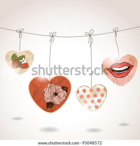 St Valentine's day greeting card - stock vector