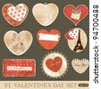 St Valentine's day scrapbook design elements - stock vector