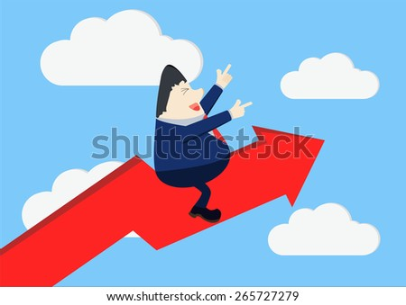 Stable and fast growing business. - stock vector