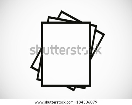 Stack Of Blank Paper - stock vector