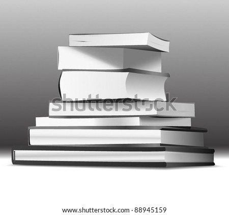 Stack of books - stock vector