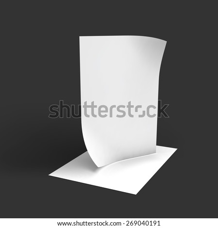 Stack of pages with curved corners. Business mockup template. Presentation of your branding and identity design. Vector Illustration. - stock vector