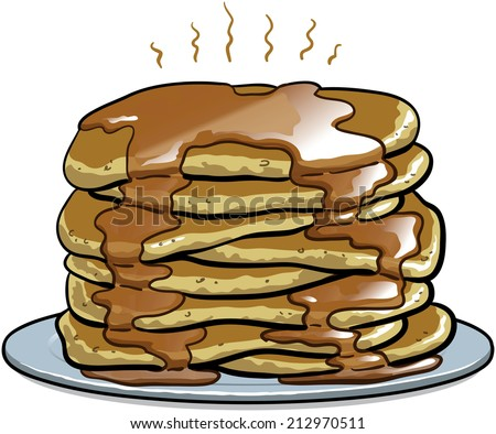 Stack of Pancakes - stock vector