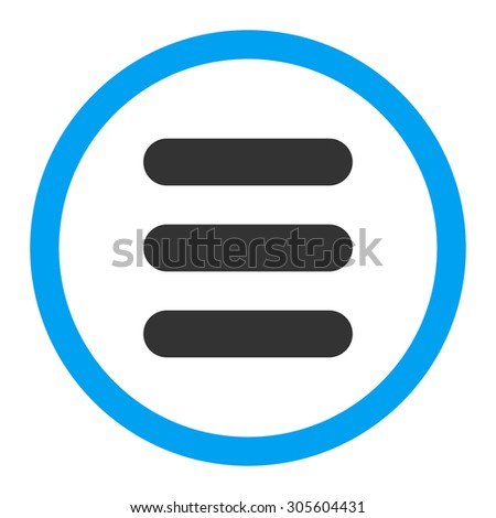 Stack vector icon. This rounded flat symbol is drawn with blue and gray colors on a white background.