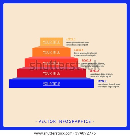 Stacked Pyramid Chart Template 2 - stock vector