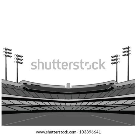 Stadium background . Vector illustration. - stock vector