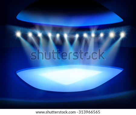 Stadium before the game. Vector illustration. - stock vector