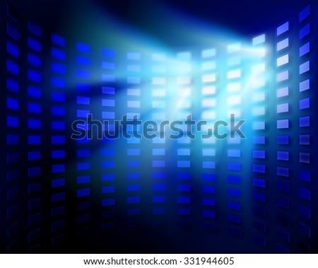 Stadium floodlight. Vector illustration. - stock vector