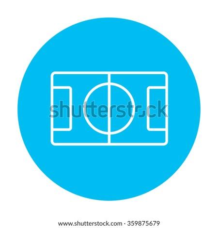 Stadium layout line icon. - stock vector