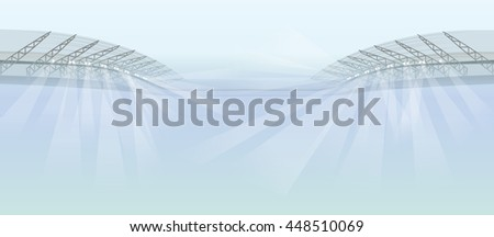 stadium lights background - stock vector