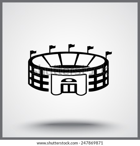 Stadium sign icon, vector illustration. Flat design style - stock vector