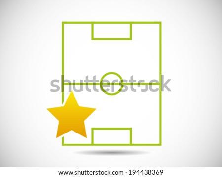 Stadium Soccer Player - Man Of The Match - stock vector
