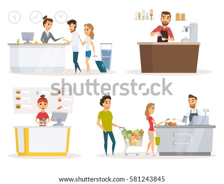Cashier Stock Images Royalty Free Images Amp Vectors