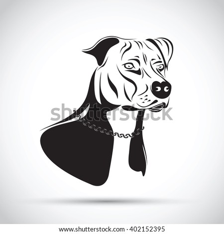 Staffordshire terrier dog silhouette - stock vector