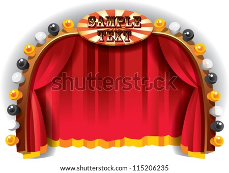stage border - stock vector