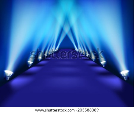 Stage during the performance. Vector illustration. - stock vector