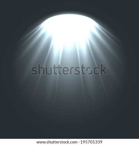 Stage ies lights with smoky effect background. - stock vector