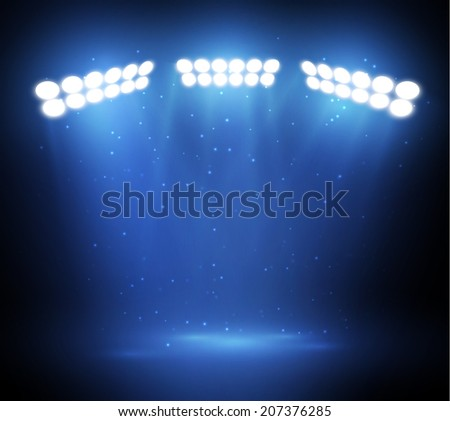 Stage light background. Vector eps10. - stock vector