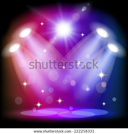 Stage light. Mesh.  This file contains transparency. - stock vector