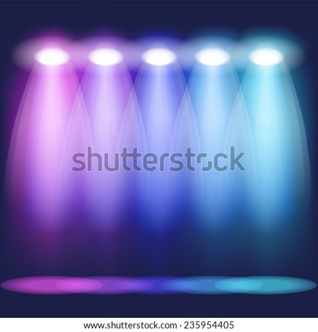 Stage light. Mesh.This file contains transparency. - stock vector