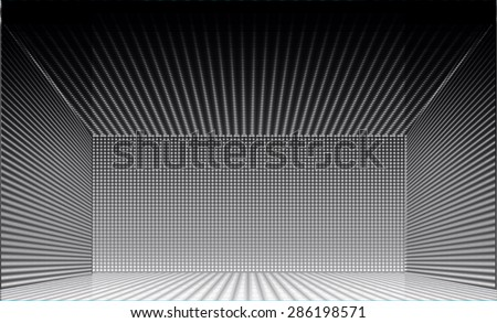 Stage Lighting black Background with Spot Light Effects, vector illustration. Abstract light lamps background for Technology computer graphic website internet business. screen, movie, cinema, scene - stock vector