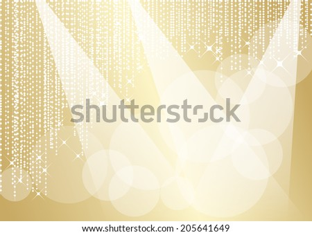 Stage of gold graceful luxury - stock vector