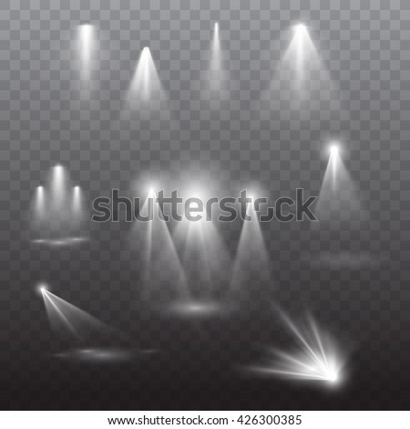 Stage spotlight vector effects collection. Eps10. - stock vector