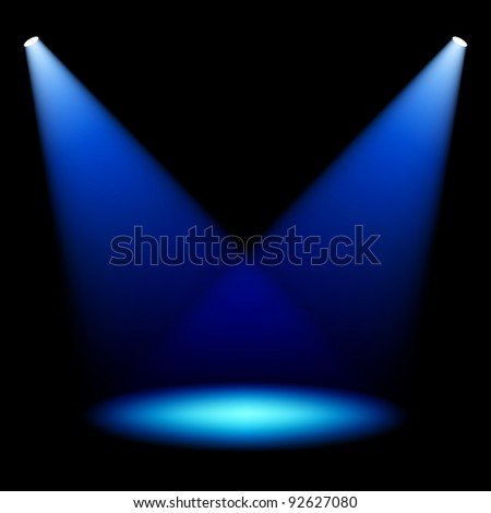 Stage spotlights. Vector. - stock vector