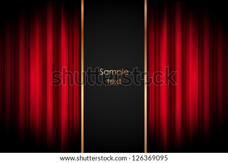 Stage - Vector background - stock vector