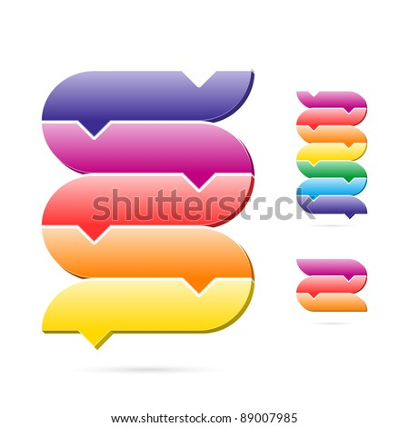 Stages of process chart. Easily editable vector. - stock vector