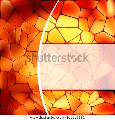 Stained glass design template. EPS 8 vector file included - stock vector