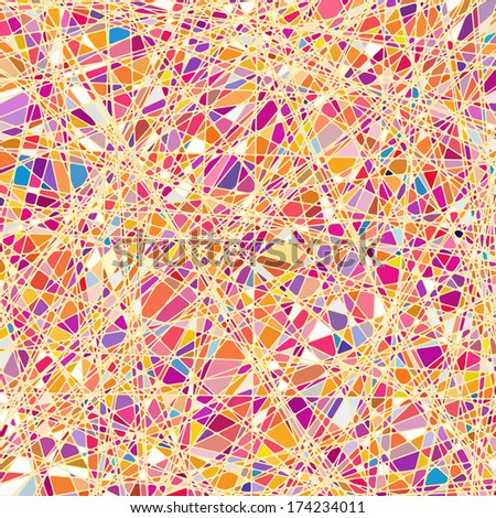 Stained glass texture in a purple tone, different orientation. EPS 10 vector file included - stock vector